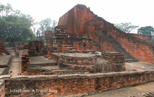 Temple-3 ruins at Nalanda Bihar India