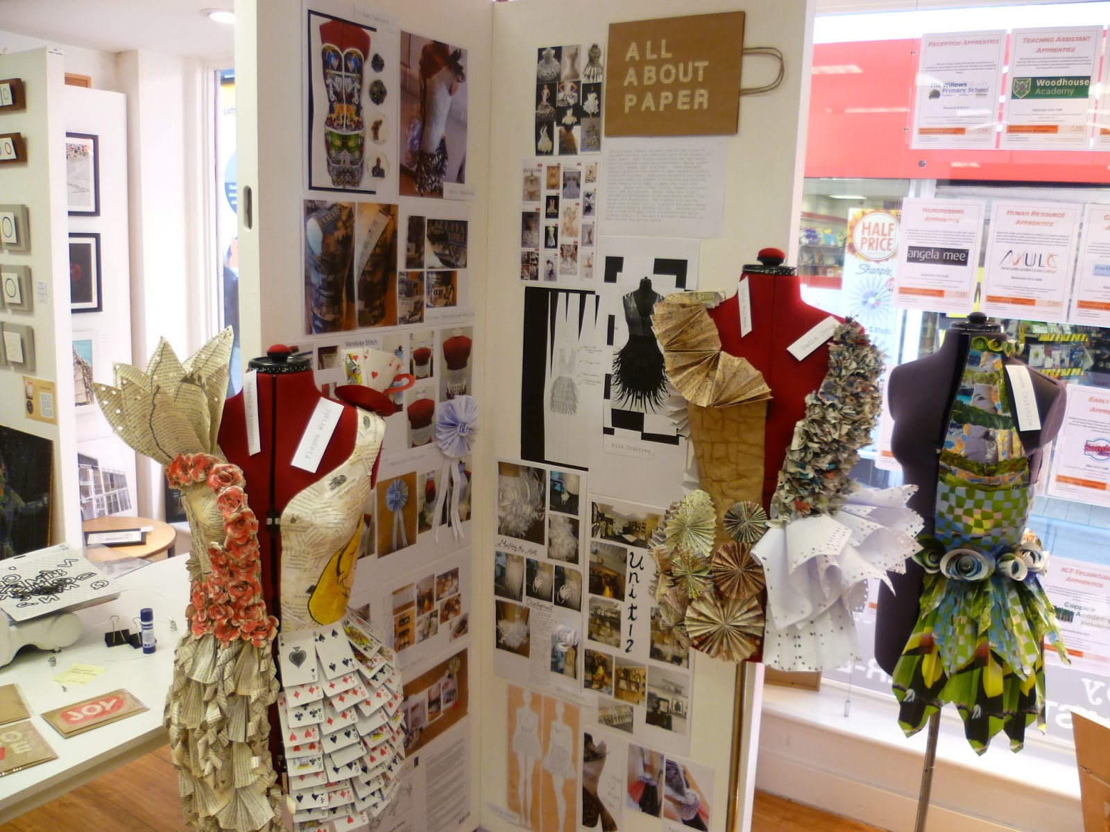 An Exhibition Of The Students Work Is On Display At MADE Here Shop In Newcastle Under Lyme Town Centre Please Pop And Take A Look