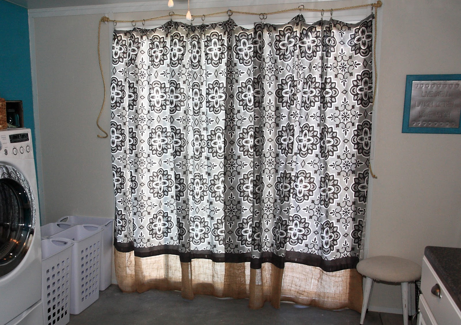 No Sew Curtain Panels From Shower Curtains Yellow Bliss Road