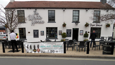 The White Horse pub and restaurant in Brigg town centre. It is operated by the national J S Wetherspoon company.