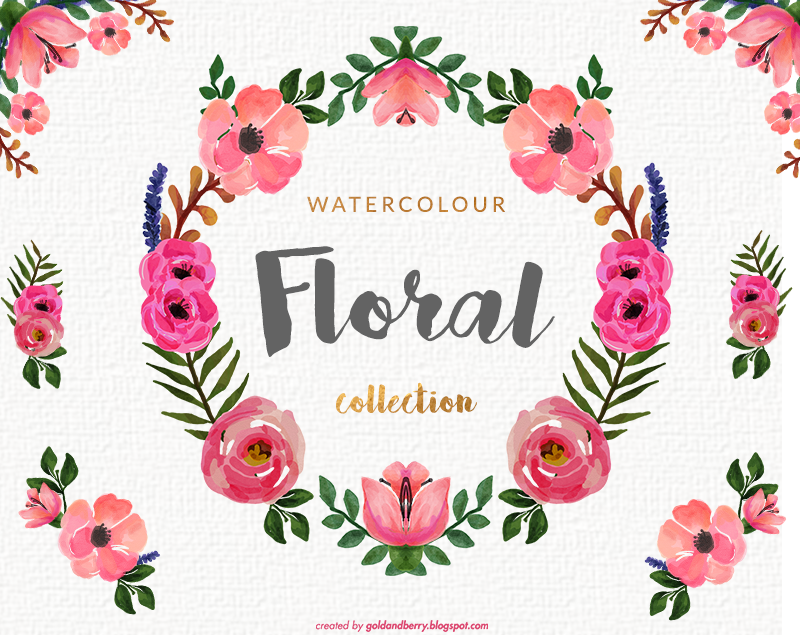 Freebies Watercolor Floral Clip Art Collection Roses And Peonies