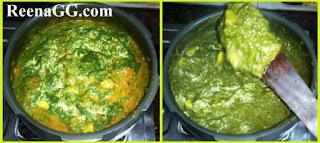 Spinach Potato Gravy Recipe