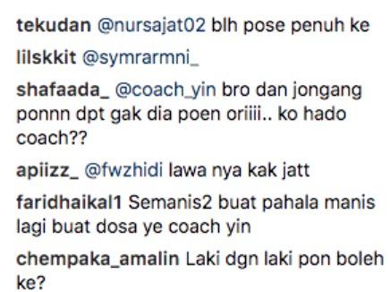 Bagi Ayat Manis Untuk Sajat, Netizen Tanya Coach Yin Bila Nak Masuk Meminang