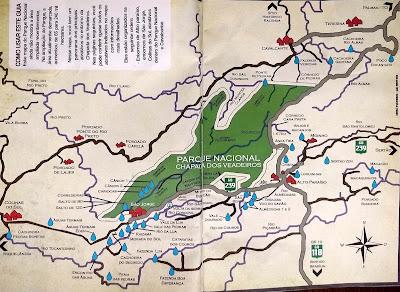 Mapa da Chapada dos Veadeiros - Guia Semea Veadeiros