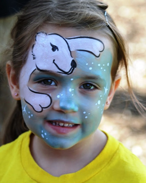 Bear Scratch Face Paint