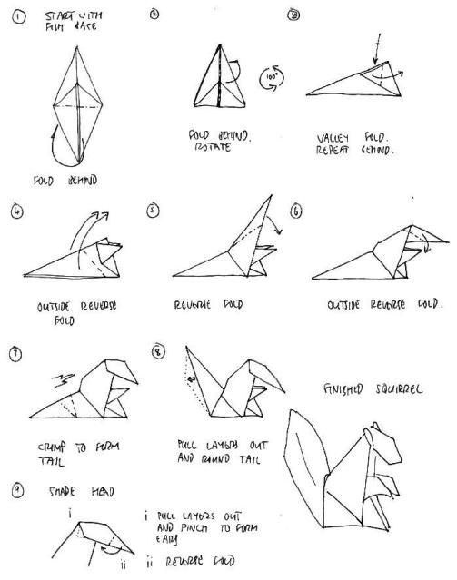 Simple Origami Goldfish Folding Instructions / Origami Instruction ... | 639x503