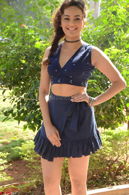 Seerat Kapoor Stunning Cute Beauty in Mini Skirt  Polka Dop Choli Top ~  Exclusive Galleries 001.jpg