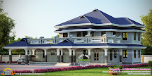 Luxury Sloped Roof House - Kerala Home Design And Floor Plans