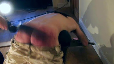 Matt takes a hard spanking in a gay spanking video made by No Way Out Punishment