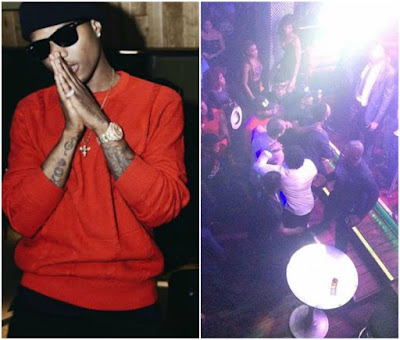 Wizkid makes peace with fan he battled with in Lagos club (Video/photographs)