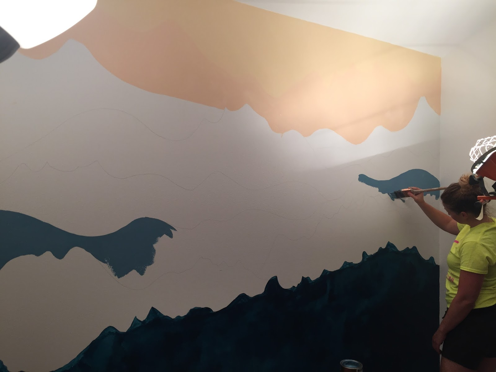 How To Paint Mountains On Wall