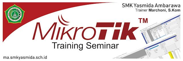 Desain Banner Training MikroTik Academy SMK Yasmida Ambarawa