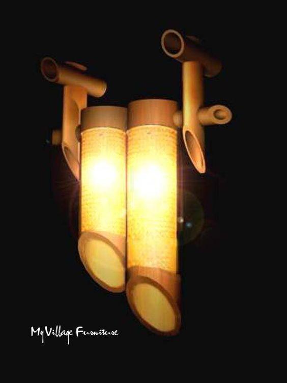 Contoh kerajinan lampu hias dari bambu yang keren  Kerajinan Keren