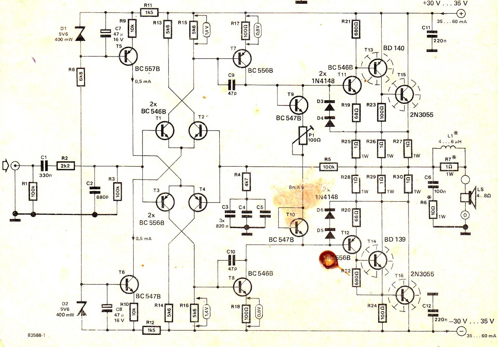 Ahuja Power Amplifier Circuit Diagram Of 150w Amplifierrhsvlcus