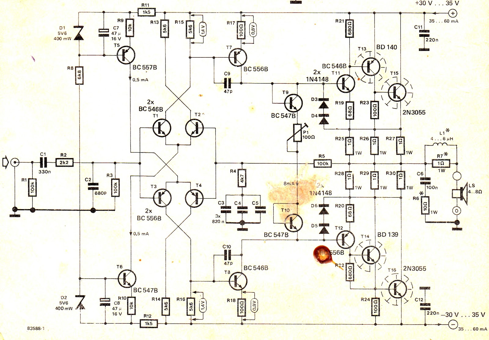 How to Make a HiFi 100 Watt Amplifier Circuit Using