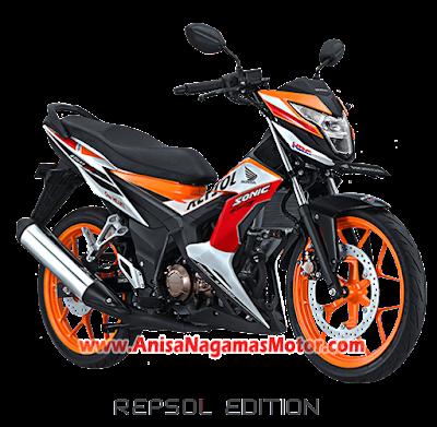 Sonic 150R Repsol Edition 2018 Anisa Naga Mas Motor Klaten Dealer Asli Resmi Astra Honda Motor Klaten Boyolali Solo Jogja Wonogiri Sragen Karanganyar Magelang Jawa Tengah.