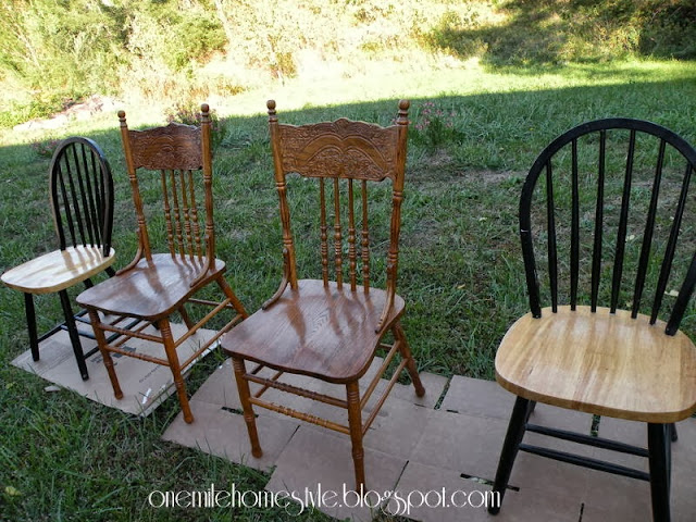 Dining room chairs before.