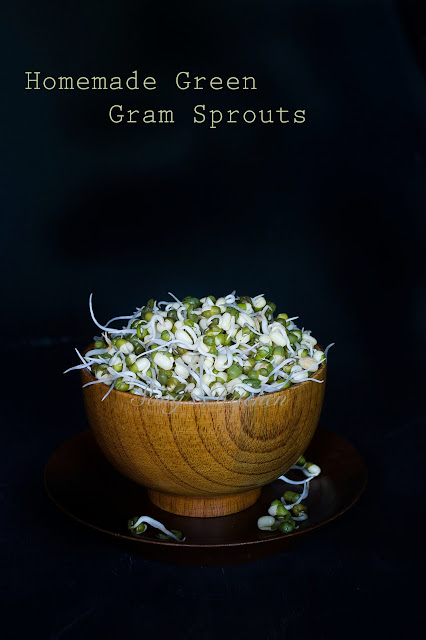 How To Make Sprouts At Home / Homemade Green Gram Sprouts Recipe