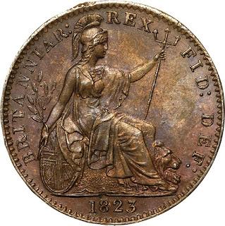 British Coins Farthing 1823 Britannia