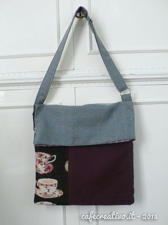 Favoloso Cartamodello e Tutorial per realizzare una borsa piegata - Cafe  KD84