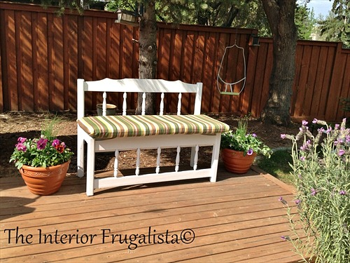 Twin Captain's Bed Outdoor Bench