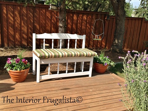 Twin Captain's Bed Repurposed Into An Outdoor Bench
