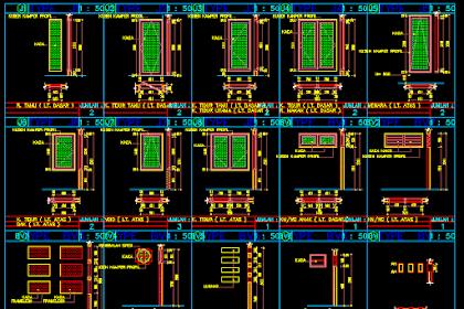 Gambar Kerja Detail Jendela Semua Type