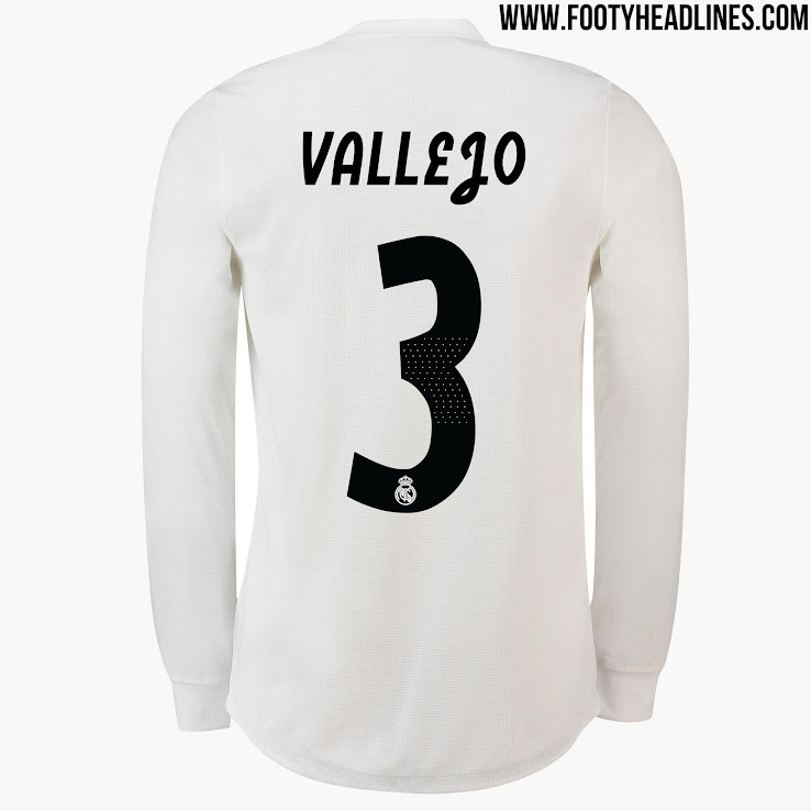 09e405c1e16 All-New Extraordinary Real Madrid 18-19 Kit Font Released - Footy ...