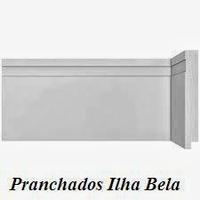 Rodapé de Poliestireno Santa Luzia 457 Branco