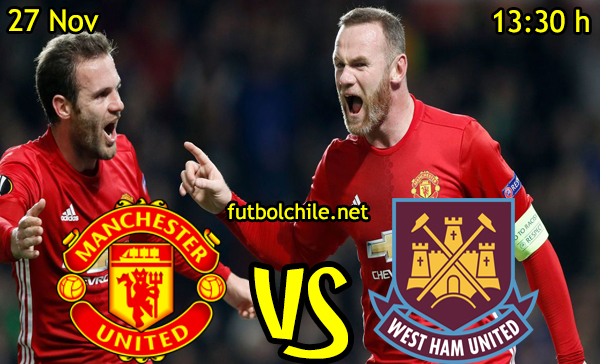 Ver stream hd youtube facebook movil android ios iphone table ipad windows mac linux resultado en vivo, online:  Manchester United vs West Ham United