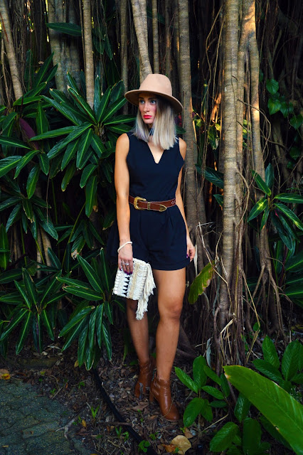 safari style playsuit look