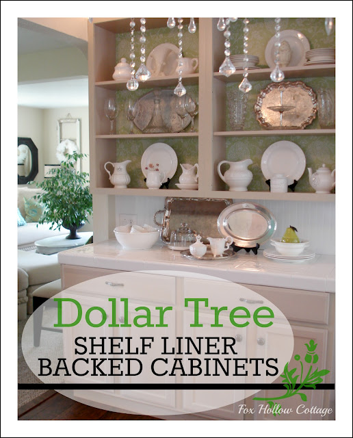 Kitchen Cabinet Paper: Anyone Can Decorate: Shelf Liner Backed Cabinets