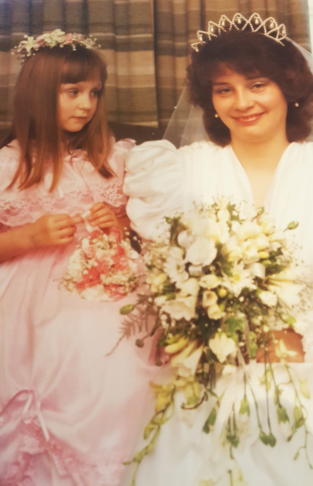 Is This Mutton's Gail Hanlon at her first wedding with bridesmaid Danielle Wood
