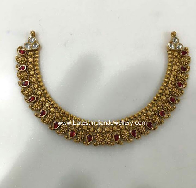 40gms Gold Mango Necklace