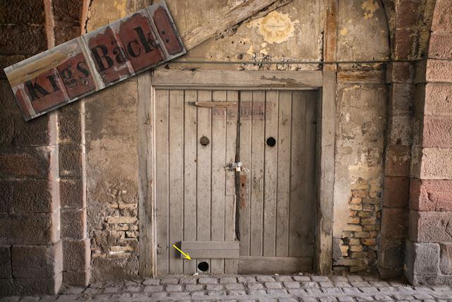 "Porte de Colmar, Neuf-Brisach — Boulangerie de guerre ""Kriegsbäckerei"". Portes est. [état mai 2015]"