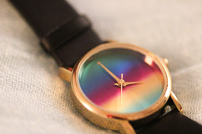 ACCESSOIRE: WATCH RAINBOW  PRIZMAHFASHION