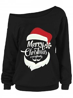 Merry Christmas Plus Size Santa Claus Sweatshirts