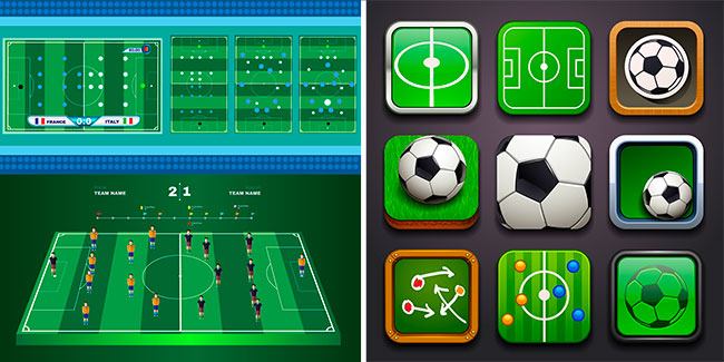 Football Vector Elements for Infographics 06-07 by Saltaalavista Blog