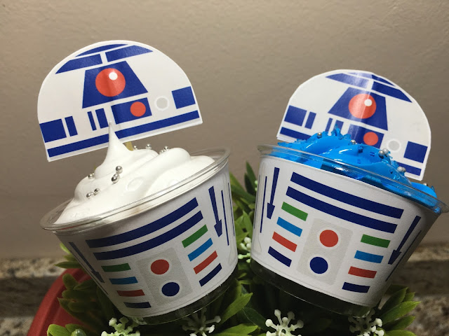 Star wars, cupcakes, star wars printables, star wars trakteren, star wars wikkel, star wars patroon, action traktatie, traktatie van de action