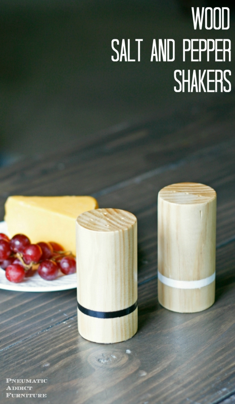 How to make modern wood salt and pepper shakers
