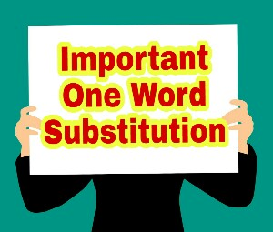 One Word Substitution In Hindi And English PDF Download