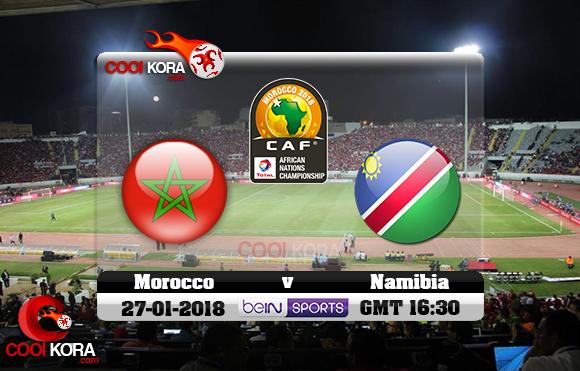 مشاهدة مباراة المغرب و ناميبيا اليوم 27-1-2018 بطولة أفريقيا للاعبين المحليين