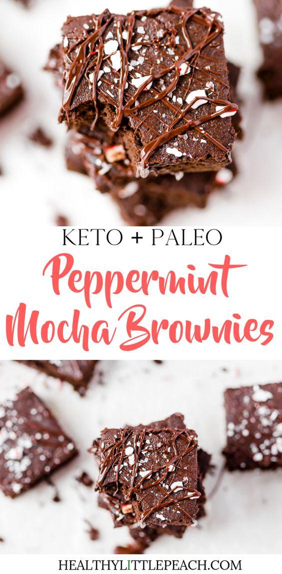 Keto/Paleo Peppermint Brownies