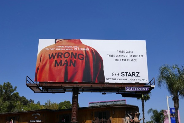 Wrong Man series premiere billboard