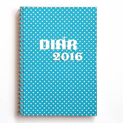 Diár podľa priania - na diári je predtlačený rok 2016. Môžete si navrhnúť  prednú stranu a to farbu 1c378b58cd7