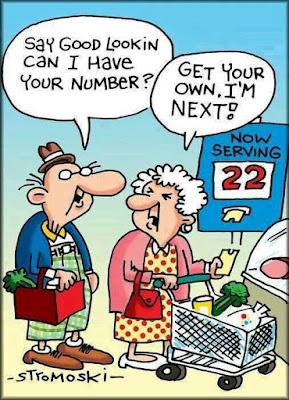 Elderly at the shops