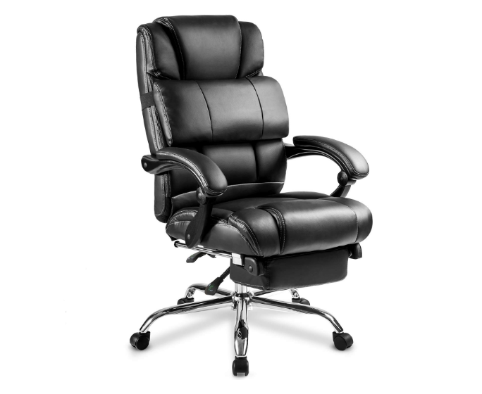 Merax Portland Technical Leather Large & High Executive Recliner Napping Chair - Black