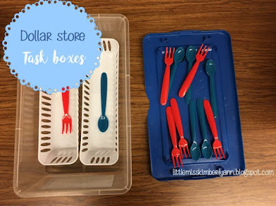 Dollar Store Task Boxes for Special Education