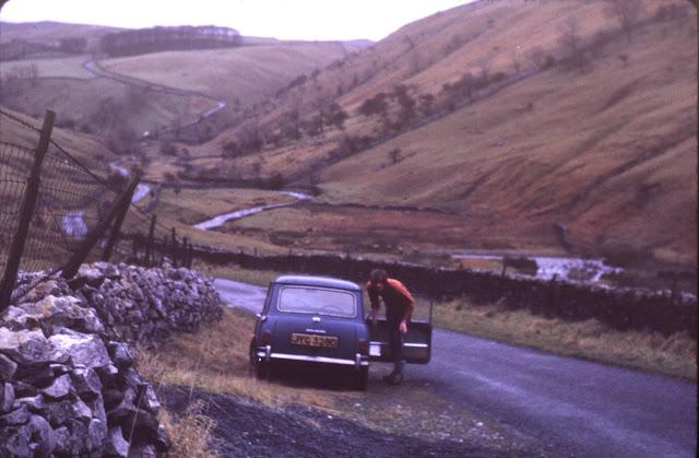 1966 Morris Mini near Kettlewell