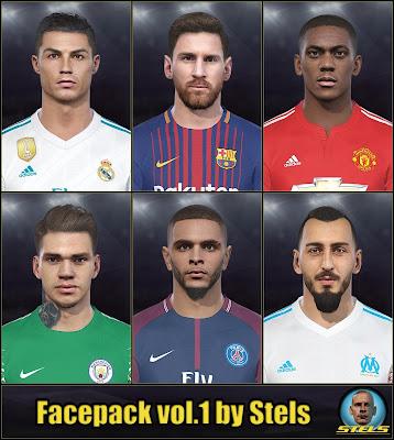 PES 2018 Facepack vol.1 by Stels